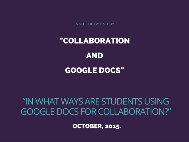 COLLABORATION AND GOOGLE DOCS (2)